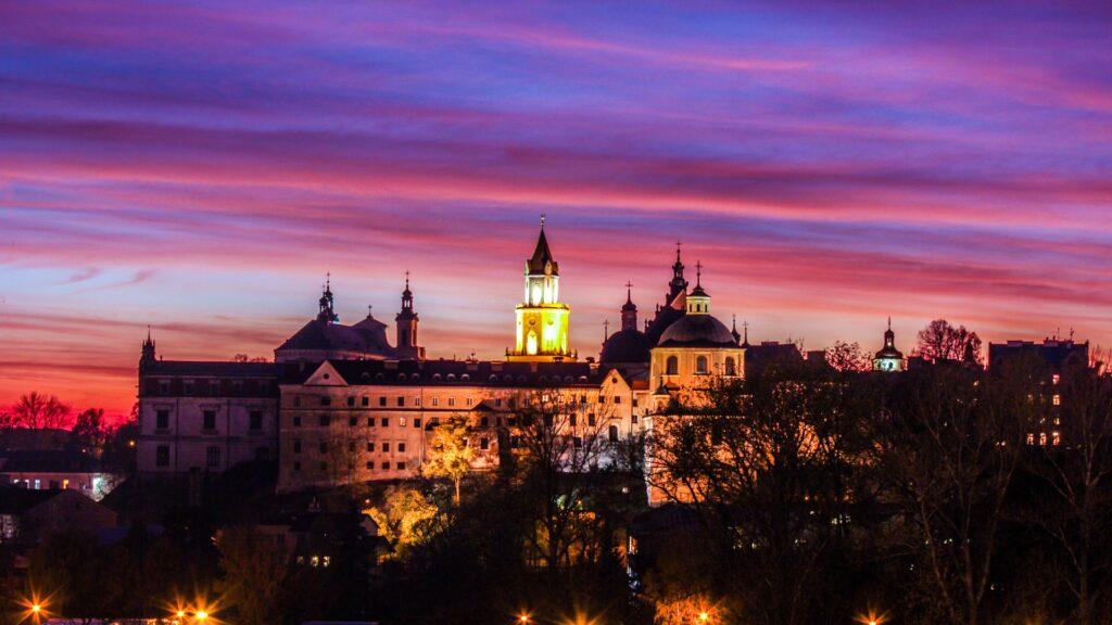 Zamek Lubelski nocą