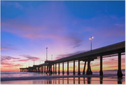 Spectacular Sunset at Venice Beach California Pier